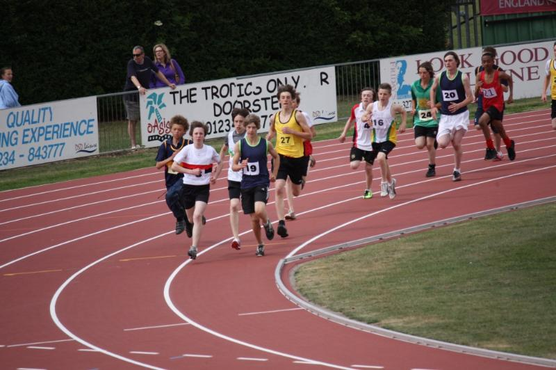 picture of PE students running